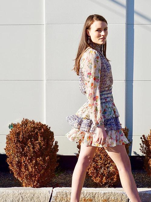 Floral Print mix Skirt