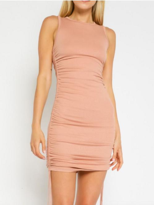 Peach DrawString Dress