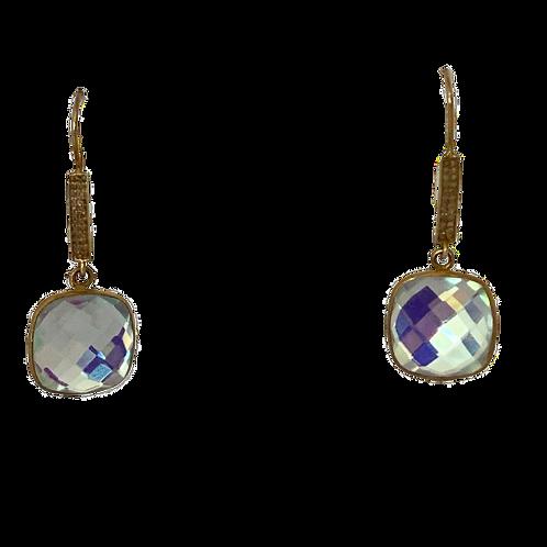 Rainbow Quartz with Pave Diamond Finds