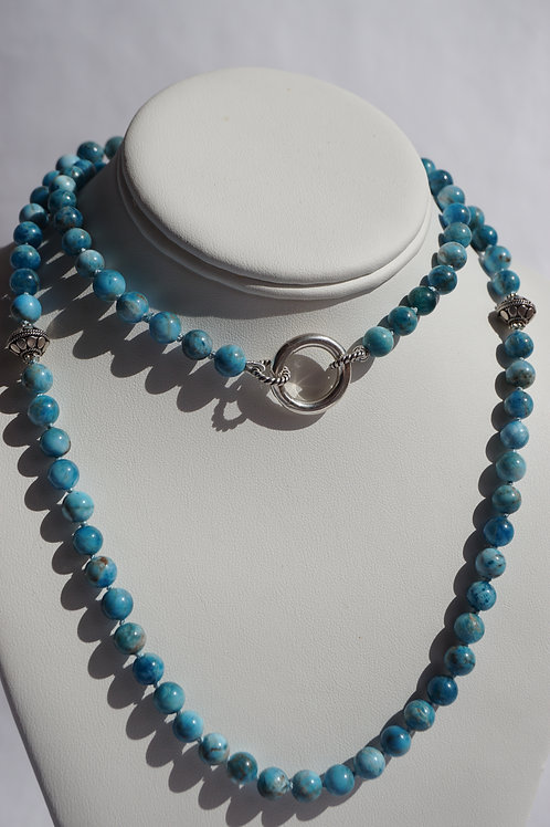 Apatite long necklace with clasp