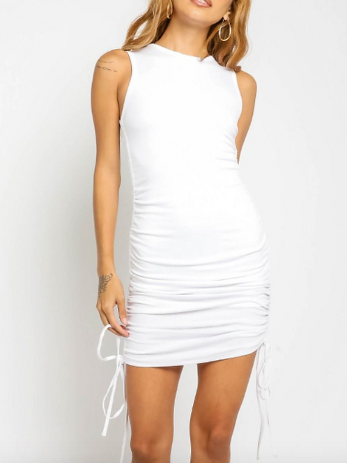 White Draw String Dress