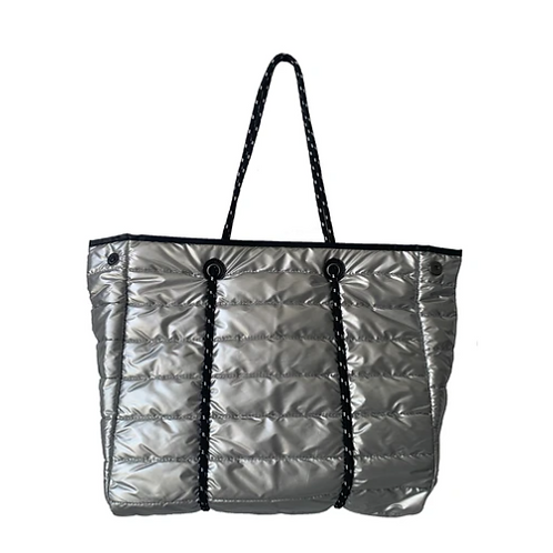 PUFFY SPORT TOTE W/ROPE HANDLES