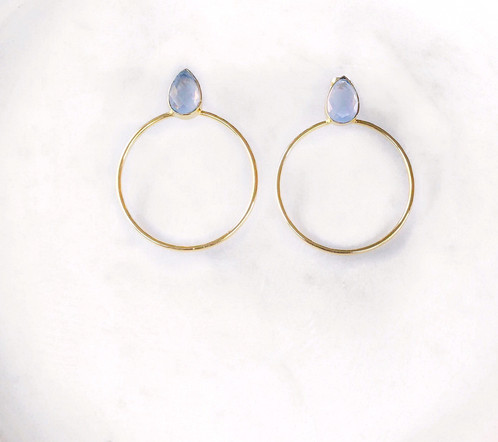 Chalcedony Hoop Earrings High quality jewellery