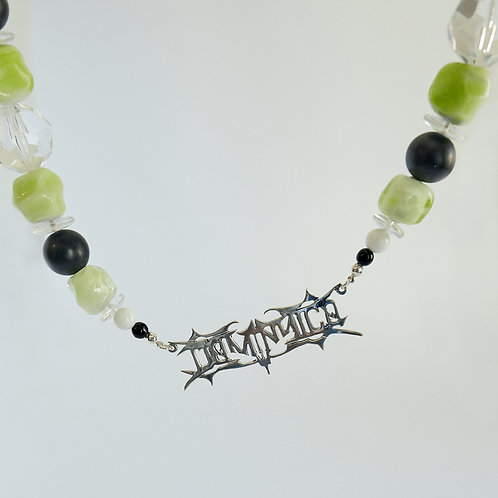 LIME AND BLACK NECKLACE