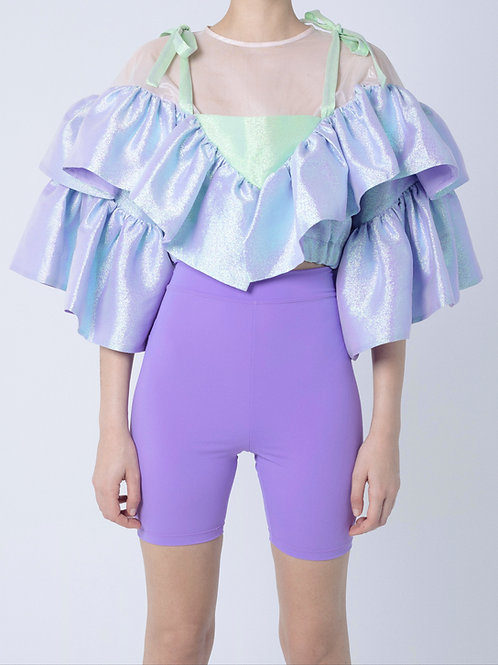 LIME AND LILAC TOP