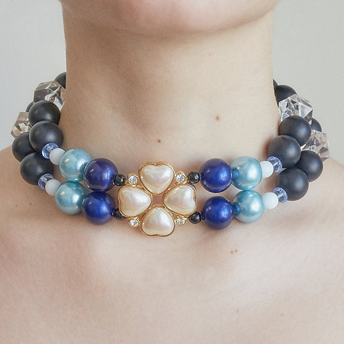 DOUBLE BRAIDED NECKLACE