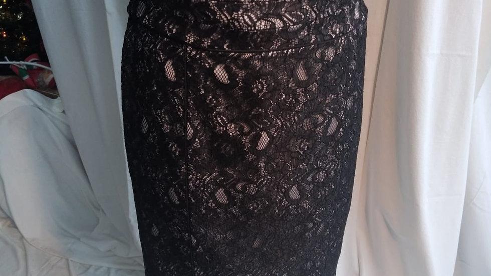 jupe noire/blanc T. 42