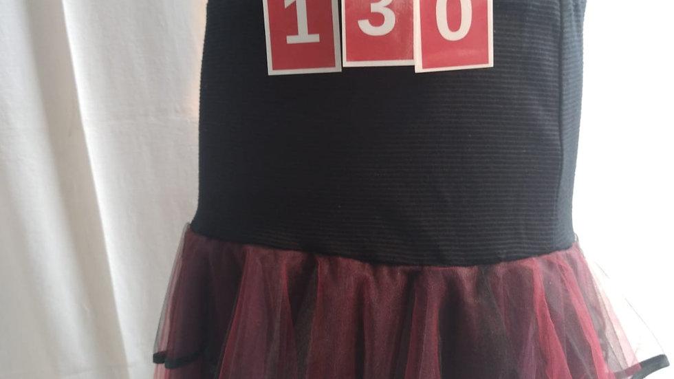 jupe noire et rouge T. U