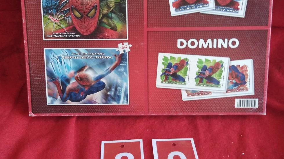 2 puzzles Spiderman+ memo+ domino