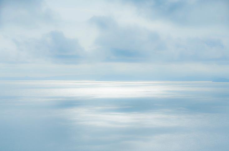 Seascape, sea meets sky, image inspire by nature, peaceful sea image