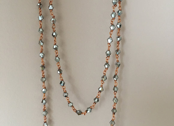 Long collier Argenté