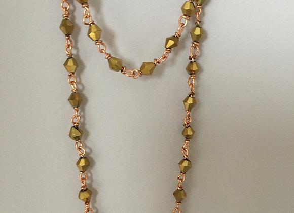 Long collier Doré