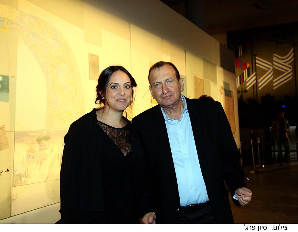 רון חולדאי עם מירית בכר, תמונות מתוך אירוע הפתיחה של ביתן 2 מרכז הירידים תל אביב