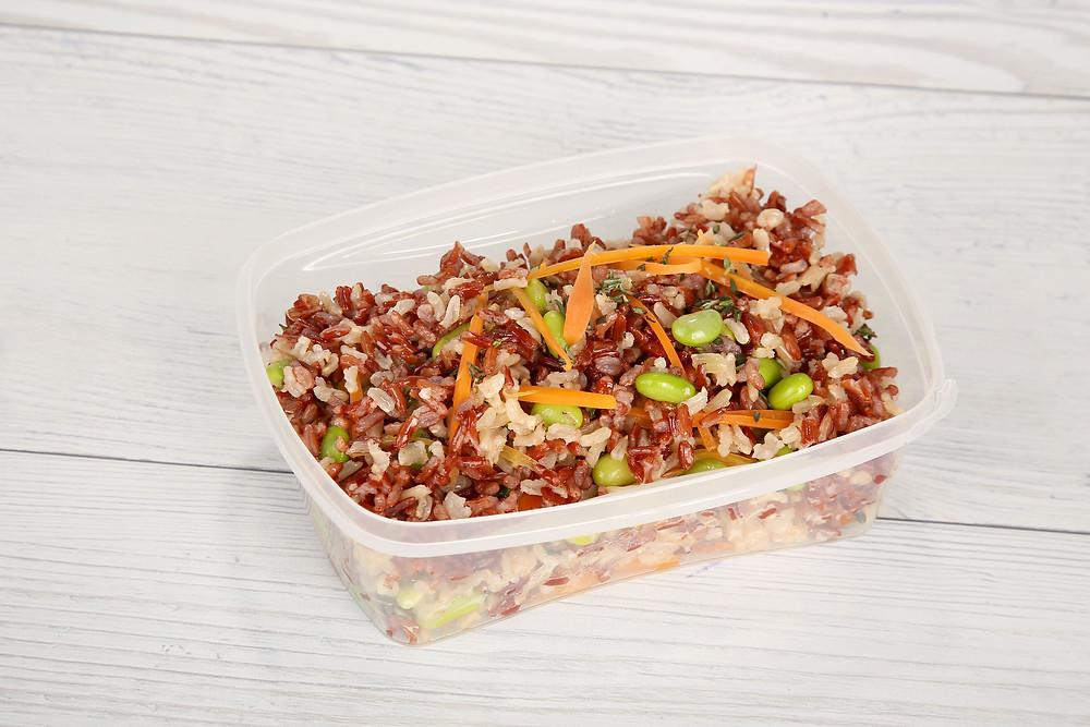 אורז מלא ואדום עם ירקות  12 ש' LUNCH BOX.JPG