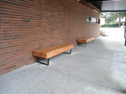 KCLS entry benches weld and glue