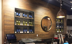 heritage bar feature wall