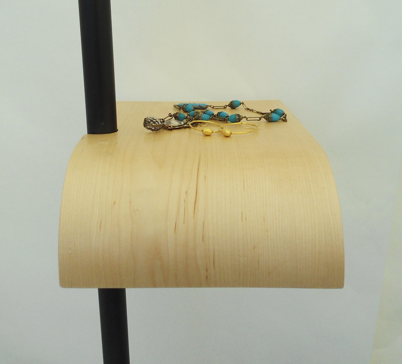 bent plywood shelf
