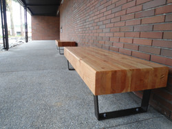 kcls entry benches glulam