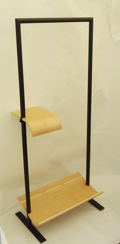 hung rack shoe and shelf