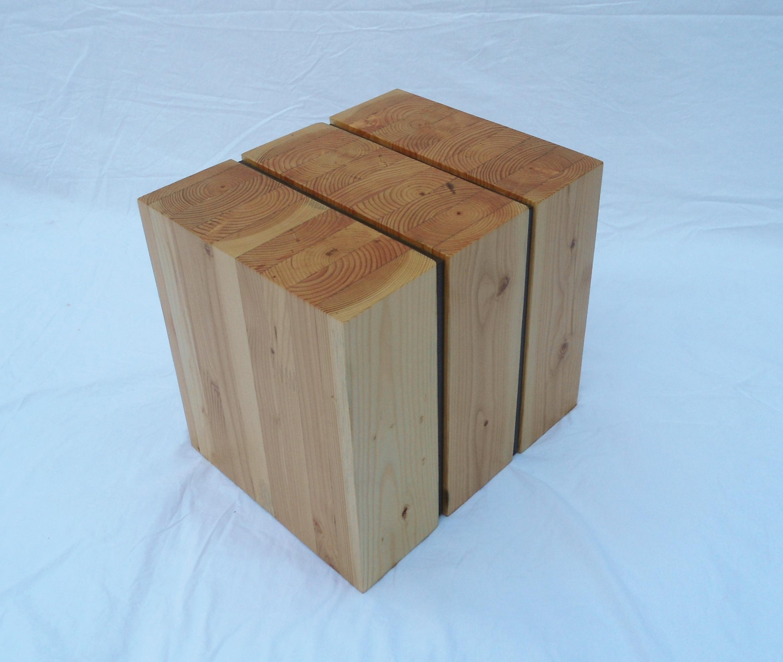 kcls glulam side table vertical