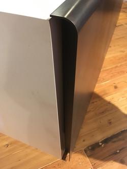 Desk with 2 Bent Steel Panels