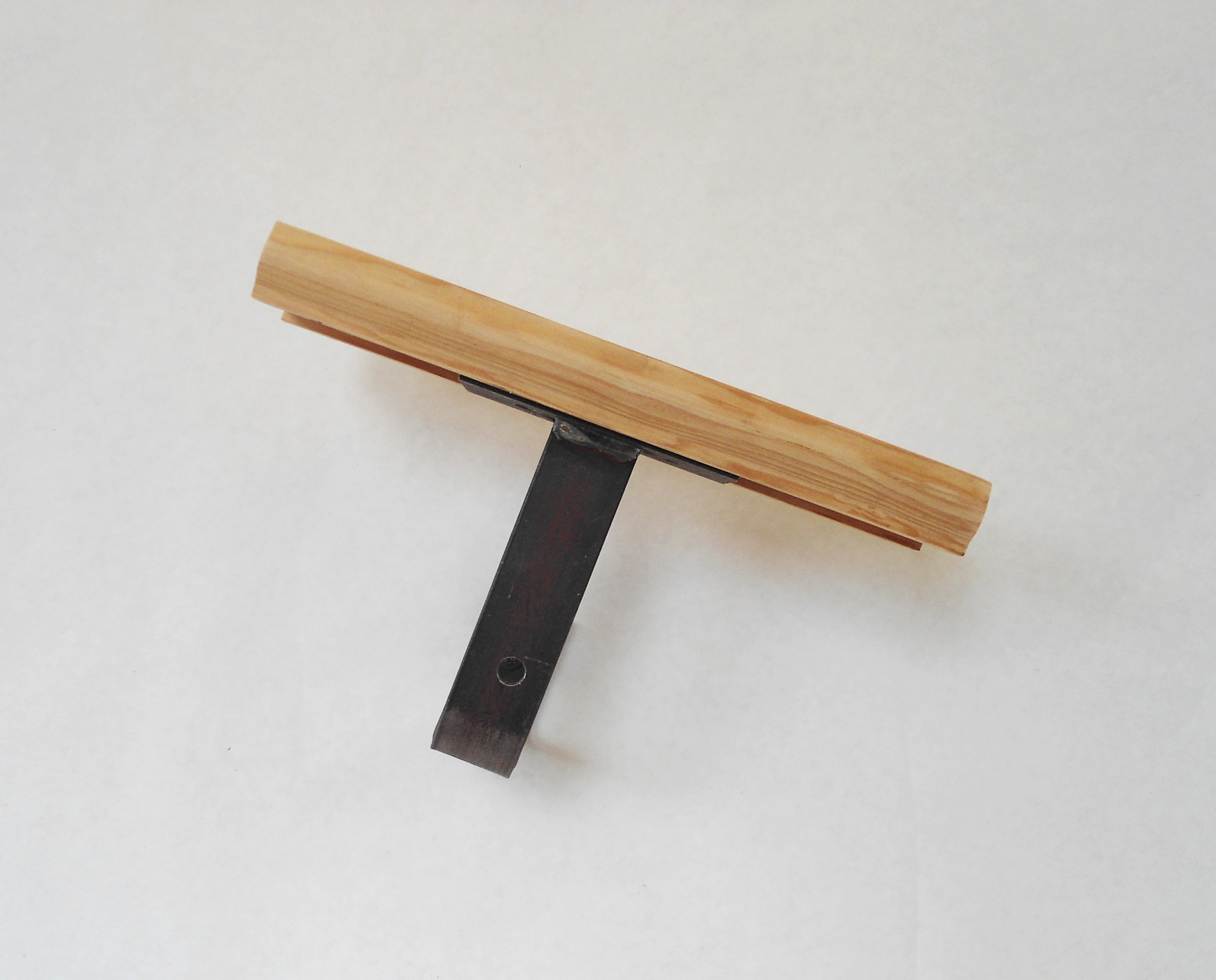 modern handrail brackets with wood rail