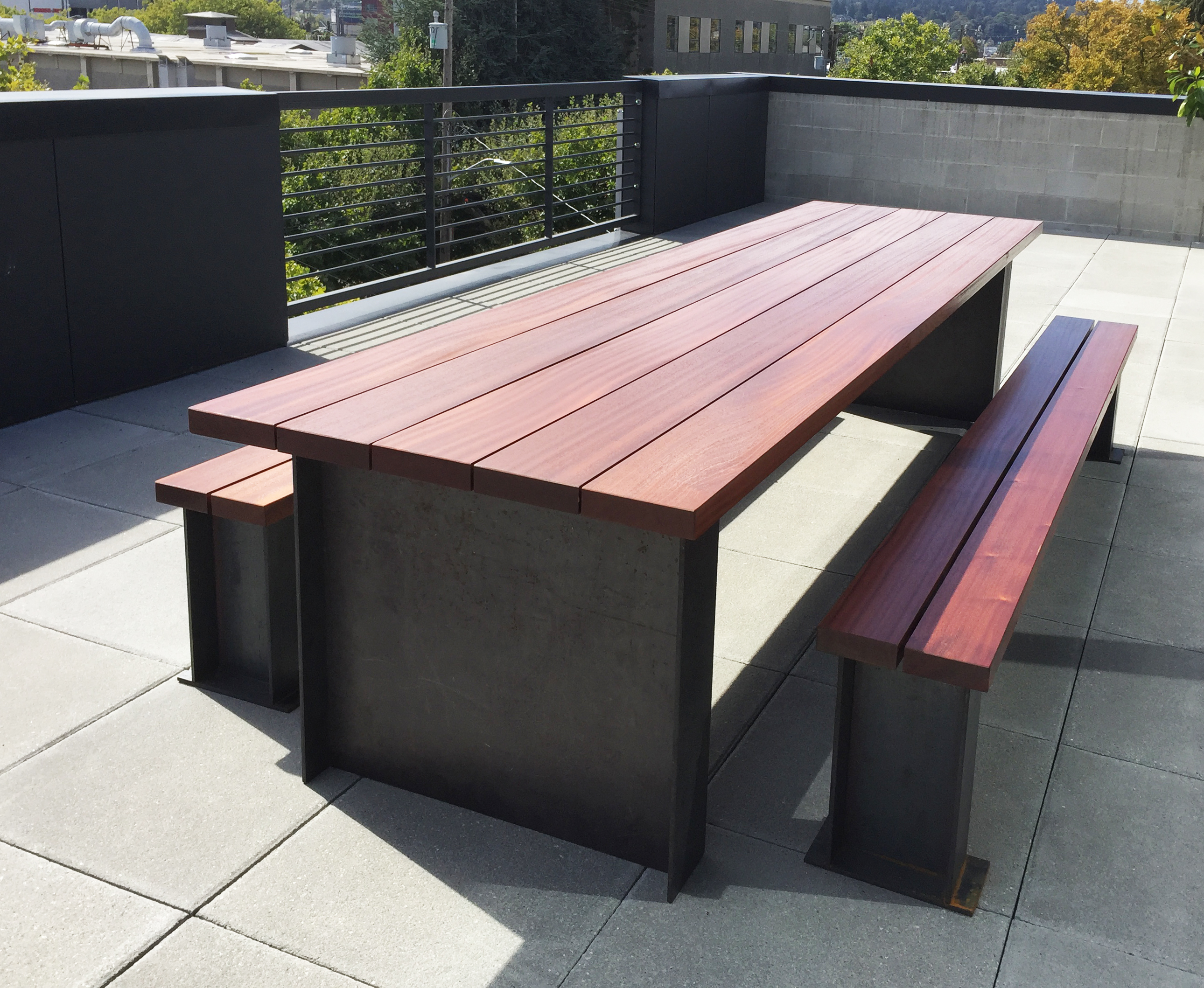 Outdoor I Beam Table
