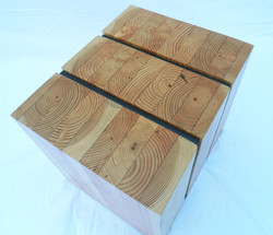 glulam side table for kcls vertical top view