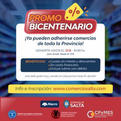 ¡VENDÉ DESDE EL 15/9 CON LA PROMO BICENTENARIO!