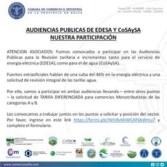 SONDEO: AUDIENCIAS PUBLICAS DE EDESA Y CoSAySA