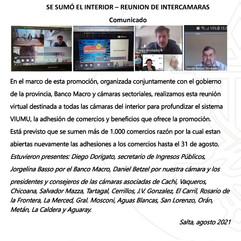 COMUNICADO: PROMO BICENTENARIO, SE SUMÓ EL INTERIOR - REUNIÓN DE INTERCAMARAS