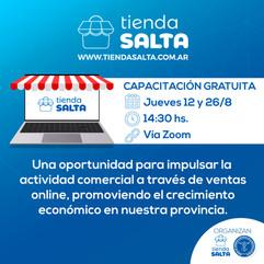 CAPACITACIONES ON-LINE: TIENDA SALTA + E-COMMERCE • AGOSTO 2021