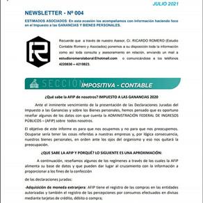 Newsletter 004: ¿QUE SABE LA AFIP Y PORQUÉ?
