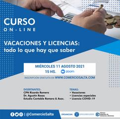 CURSO: VACACIONES Y LICENCIAS