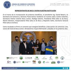 REPRESENTANTES DE BOCA VISITAN NUESTRA INSTITUCIÓN