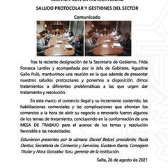 REUNIÓN CON LA MUNICIPALIDAD, SALUDO PROTOCOLAR Y GESTIONES DEL SECTOR