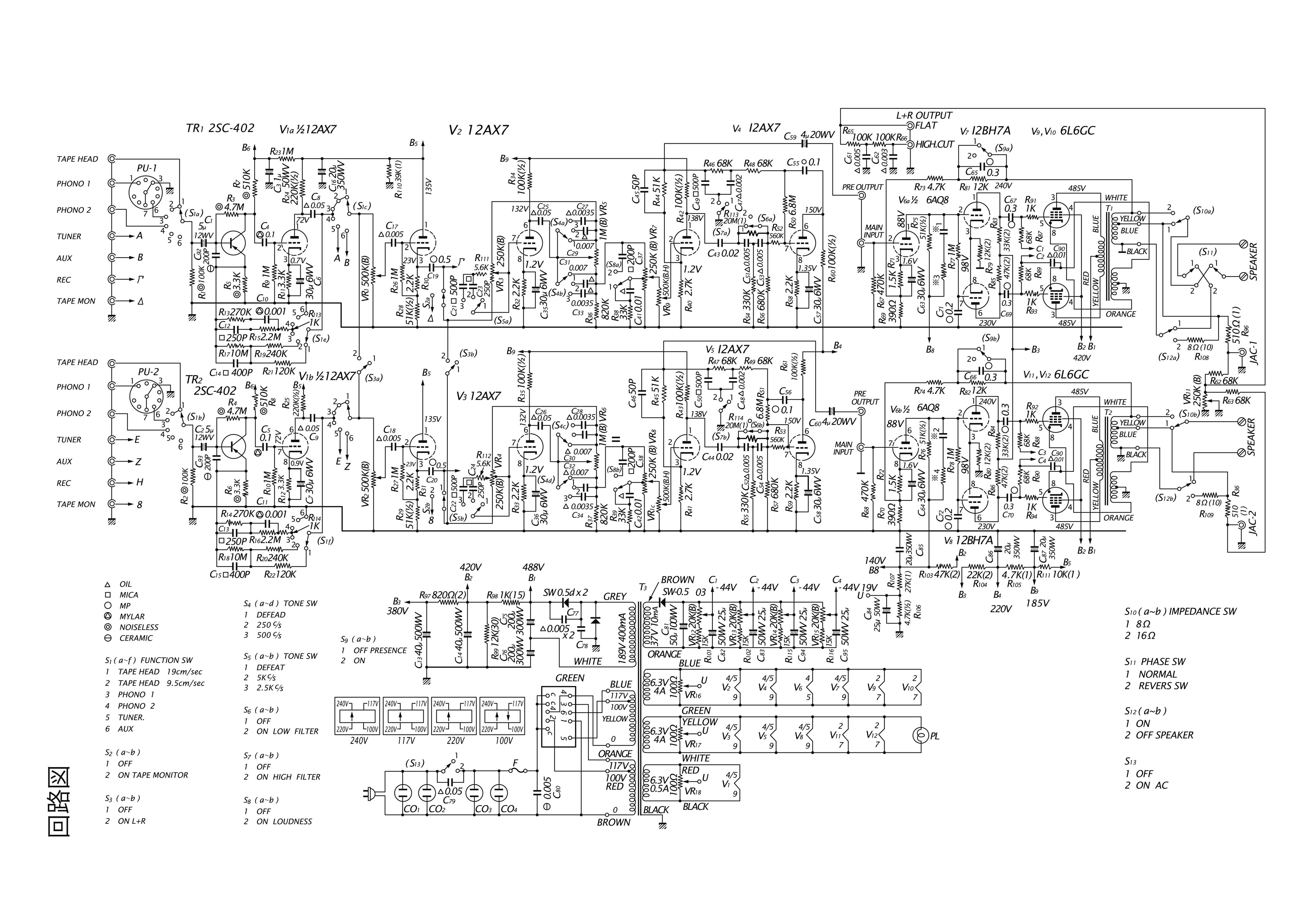 Sansui AU-111 schematic