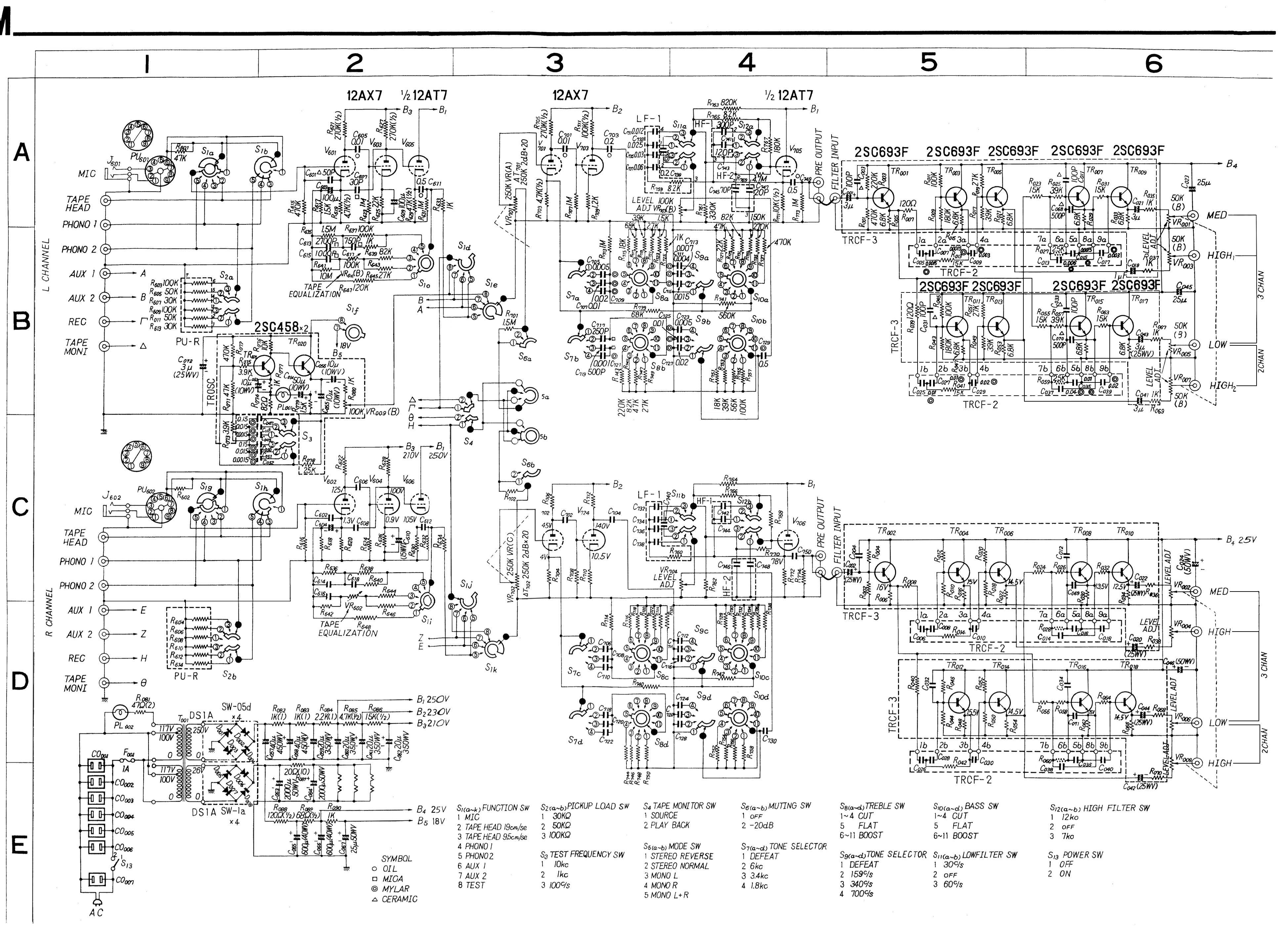 Sansui CA-303 schematic