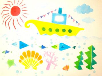 【trim】「型染めで夏の海を作るワークショップ」 のお知らせ。
