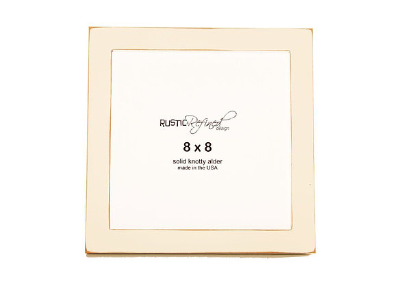"8x8 1"" Gallery Picture Frame - Off White"
