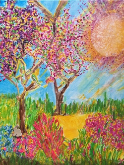 Gallick  Rosemary In Full Bloom Acrylic (1)