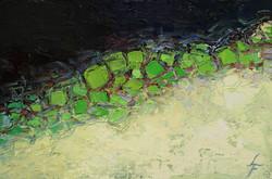Fink-Leanne-Green Dream-Oil--Cold-Wax-on-Linen