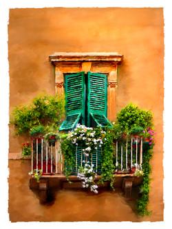 Breen, Susan-window with green shutters.