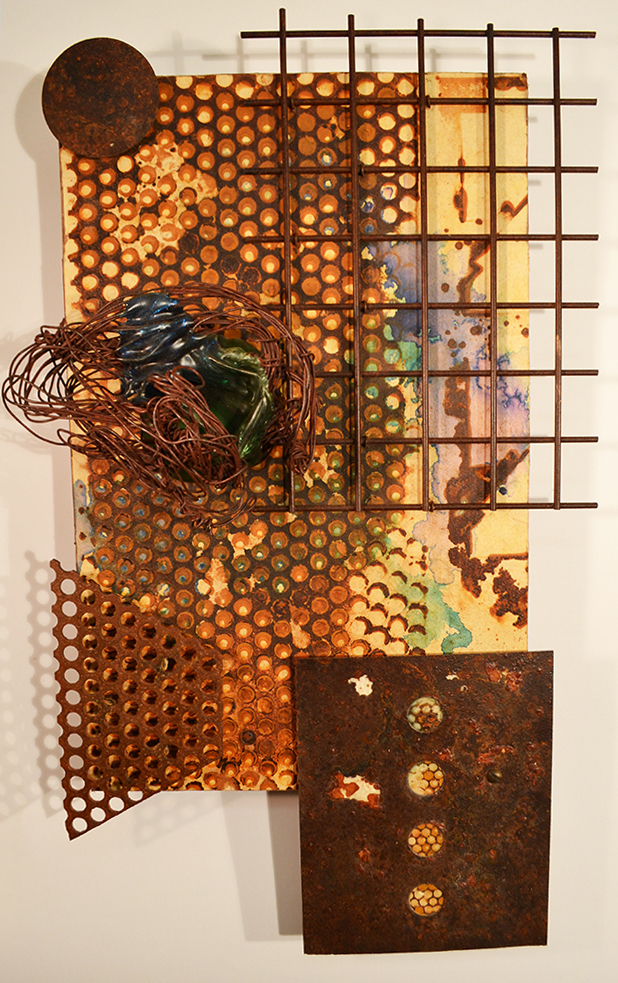 Brian Kirk - Wired, mixed media assemblage