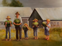 Weed, Peggy-Farm Kids with Watermelons