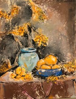 Viscardi, Linda-Still Life with Oranges