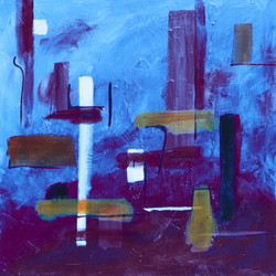 Layne Kay Purple Rising acrylic on canvas