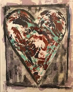 Pavone, Matt-Heart (Lavender and Red) 2019