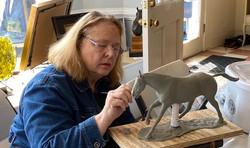 Sculpture-Patty Lasko and horse 1