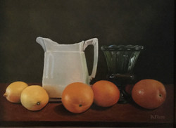 DeFluri, Peter-White Pitcher with Oramges and Lemons
